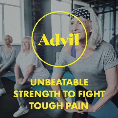Advil Ibuprofen 200mg Coated Tablets, Pain Reliever Fever Reducer