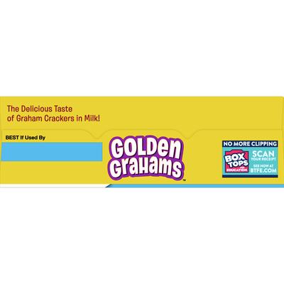 Golden Grahams Breakfast Cereal, Graham Cracker Taste, Whole Grain