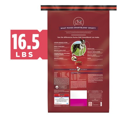 Purina ONE Natural Dry Dog Food, SmartBlend Small Bites Beef & Rice Formula