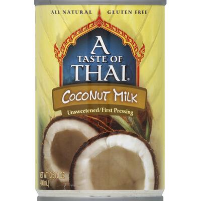 A Taste of Thai Unsweetened Coconut Milk