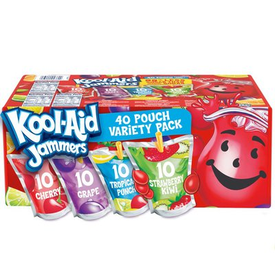 Kool-Aid Jammers Cherry, Grape, Tropical Punch & Strawberry Kiwi Artifically Flavored Soft Drink Variety Pack