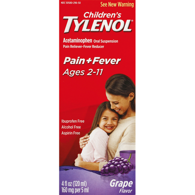 TYLENOL Oral Suspension, Grape
