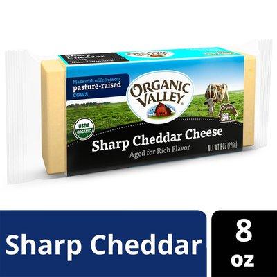 Organic Valley Organic Sharp Cheddar Cheese Block