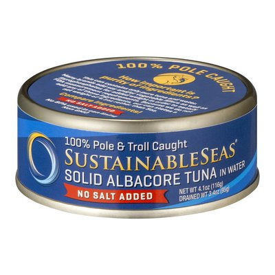 Sustainable Seas Solid Albacore Tuna in Water No Salt Added