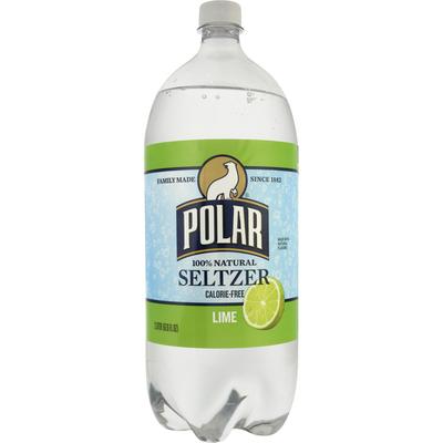 Polar Seltzer, 100% Natural, Lime