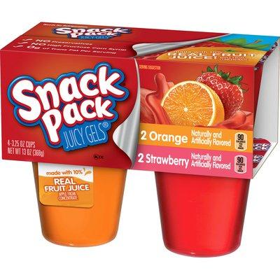 Snack Pack Juicy Gels Strawberry And Orange