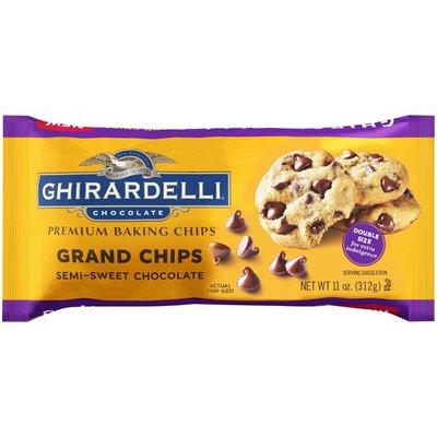 Ghirardelli Grand Chips Semi-Sweet Chocolate Premium Baking Chips