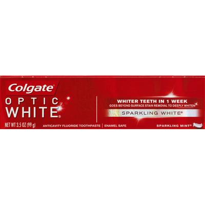 Colgate Toothpaste, Anticavity Fluoride, Sparkling White, Sparkling Mint