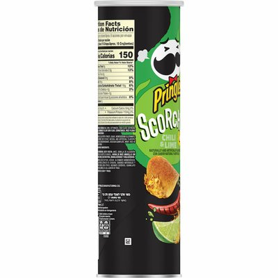 Pringles Potato Crisps Chips, Lunch Snacks, Snacks On The Go, Chili and Lime