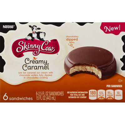 Skinny Cow Ice Cream Sandwich, Creamy Caramel