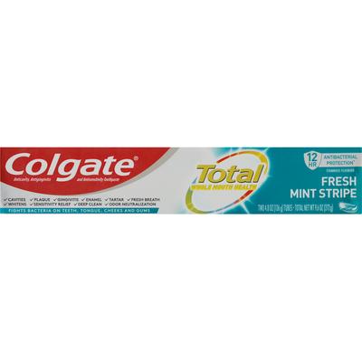 Colgate Toothpaste, Fresh Mint Stripe, Value 2 Pack