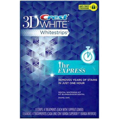 Crest Whitestrip 3d White Crest 3D White Whitestrips 1 Hour Express - Teeth Whitening Kit 4 Treatments Oral Care