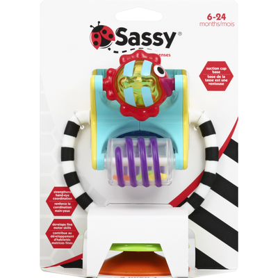 Sassy Toy, Tray Toy and Hand Rattle, 2 in 1