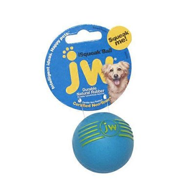 JW Pet Small iSqueak Rubber Ball Dog Toy