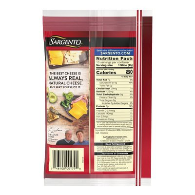 Sargento® Sliced Vermont Sharp White Natural Cheddar Cheese