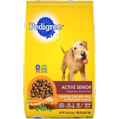 Pedigree Active Senior Complete Nutrition Roasted Chicken, Rice & Vegetable Dog Food