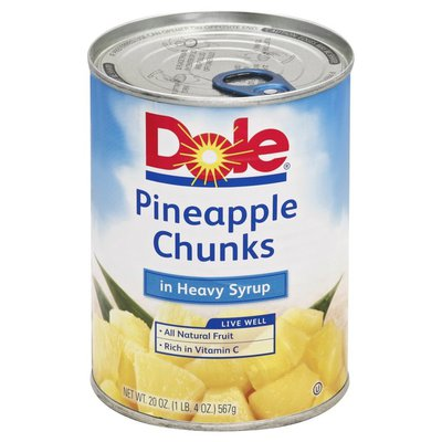 Dole Pineapple Chunks, in Heavy Syrup