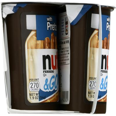 Nutella Hazelnut Spread + Pretzel Sticks, 4 Pack