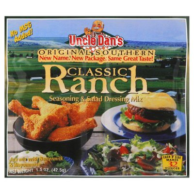 Uncle Dans Seasoning & Salad Dressing Mix, Classic Ranch, Card