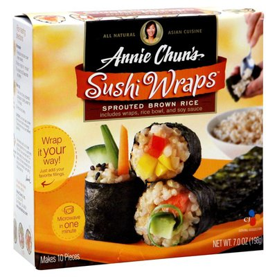 Annie Chun's. Sushi Wraps, Sprouted Brown Rice