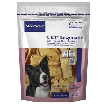 Virbac C.E.T. Oral Hygiene Rawhide Dog Chews Large