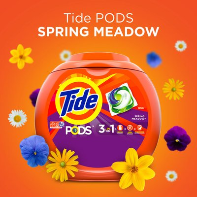 Tide Pods Liquid Laundry Detergent Pacs, Spring Meadow