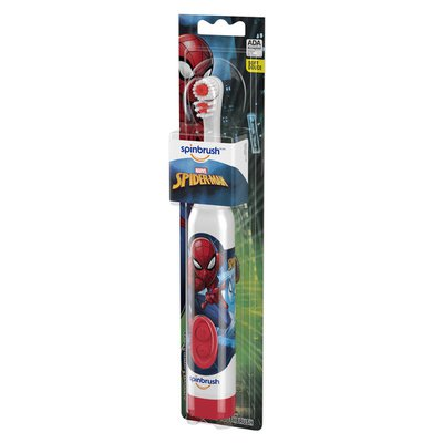 Spinbrush Spiderman Kid'S  Electric Battery Toothbrush, Soft, 1 Ct