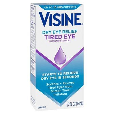 VISINE Dry Eye Relief Tired Eye Lubricant Eye Drops