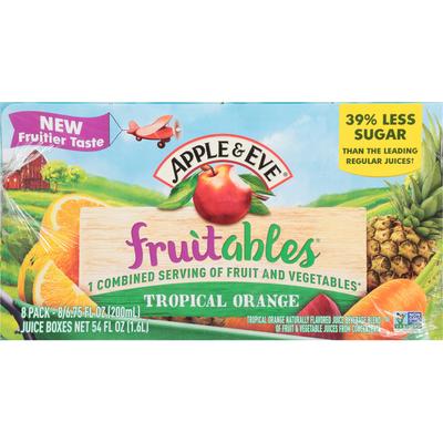 Apple & Eve Juice Beverage, Tropical Orange, 8 Pack