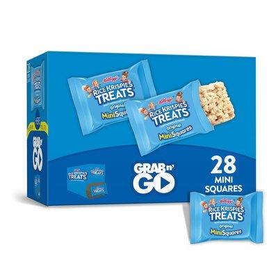 Kellogg's Rice Krispies Treats Mini Marshmallow Snack Bars, Kids Snacks, School Lunch, Original