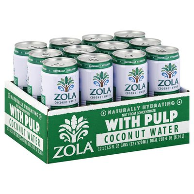 Zola Coconut Water, with Pulp