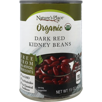 Nature's Place Organic Dark Red Kidney Beans