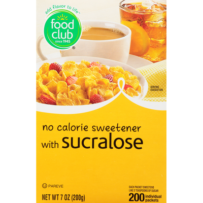 Food Club No Calorie Sweetener, with Sucralose