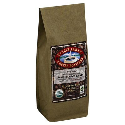 Finger Lakes Coffee Roasters Coffee, Organic/Fair Trade Certified, Whole Bean, Jamaican Me Crazy