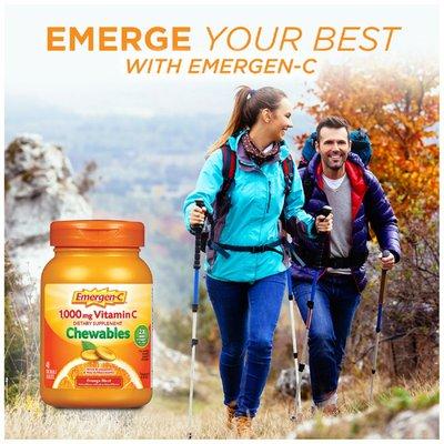 Emergen-C Vitamin C Chewables Orange Blast, Vitamin C Chewables Orange Blast