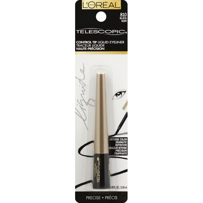 L'Oreal Liquid Eyeliner, Control Tip, Precise, Black 810