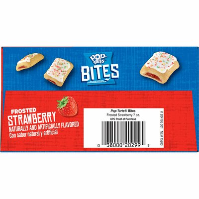 Kellogg's Pop-Tarts Baked Pastry Bites, Kids Snacks, School Lunch, Frosted Strawberry