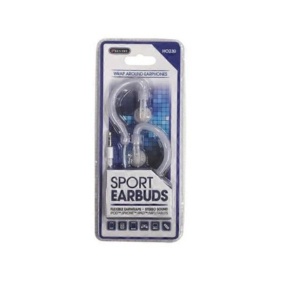 Sentry Pro HO230 Transparent Ear-Wrap Stereo Earphones