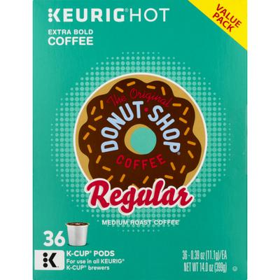 Keurig Hot Regular Medium Roast Extra Bold Coffee, K-Cups