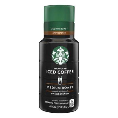 Starbucks Iced Coffee Unsweetened Premium Coffee Beverage