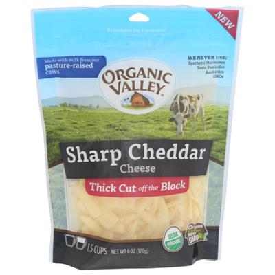 Organic Valley Finely Shredded Sharp Cheddar Cheese