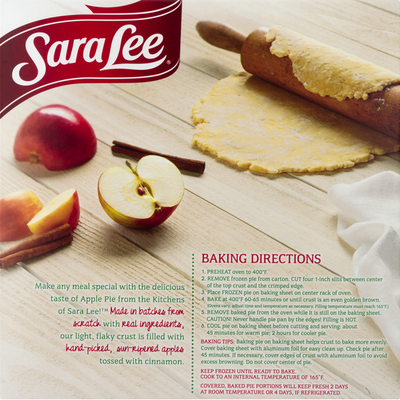 Sara Lee Pie, with Orchard Picked Apples, Apple