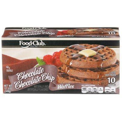 Food Club Chocolate Chocolate Chip Waffles