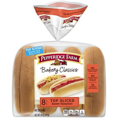 Pepperidge Farm®  Bakery Classics Top Sliced Sweet Hawaiian Hot Dog Buns