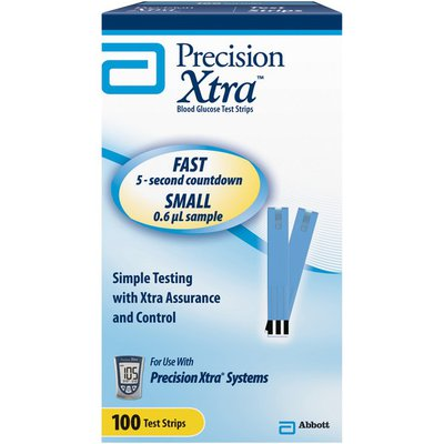 Precision Xtra Blood Glucose Test Strips