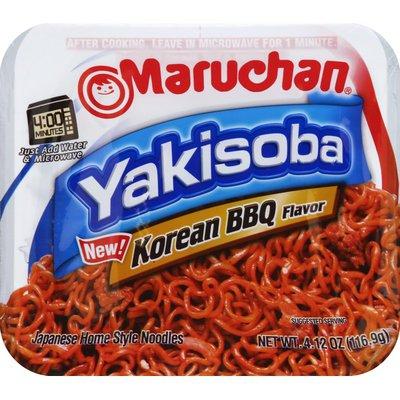 Maruchan Yakisoba Korean BBQ Japanese Home Style Noodles