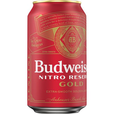 Budweiser Nitro Reserve Gold Lager Beer Can