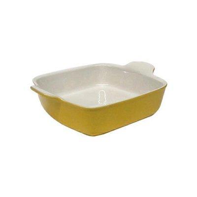 """Emile Henry 8""""x8"""" Yellow Square Baking Dish"""