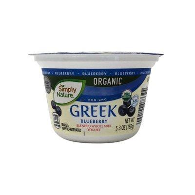 Simply Nature Organic Greek Blueberry Blend Whole Milk Yogurt