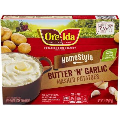 Ore-Ida Home Style Butter 'N' Garlic Mashed Potatoes Frozen Side Dish